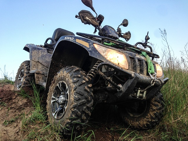 Dirty ATV Quad Bike