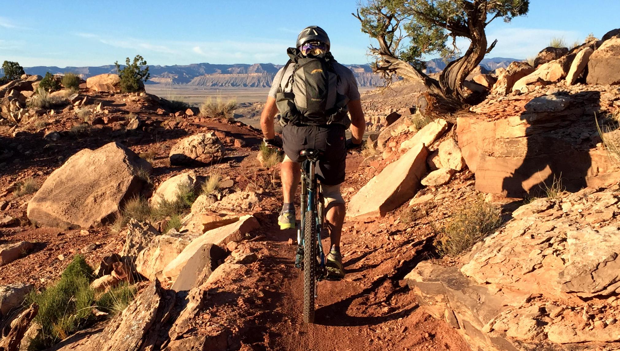 A mountain bike in the desert