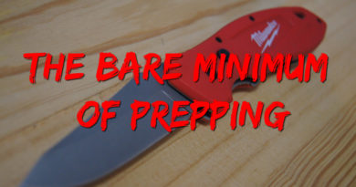 The Bare Minimum of Prepping Milwaukee Fastback knife